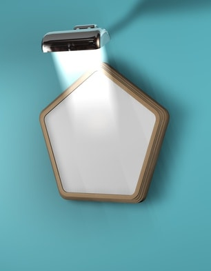 Wanlampe mit Rahmen
