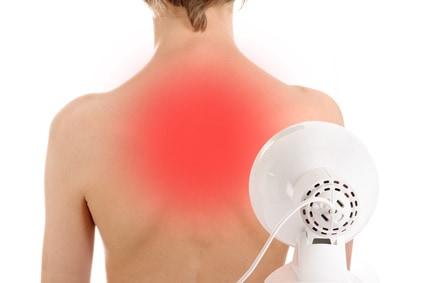 Rotlichtlampe Wärmetherapie